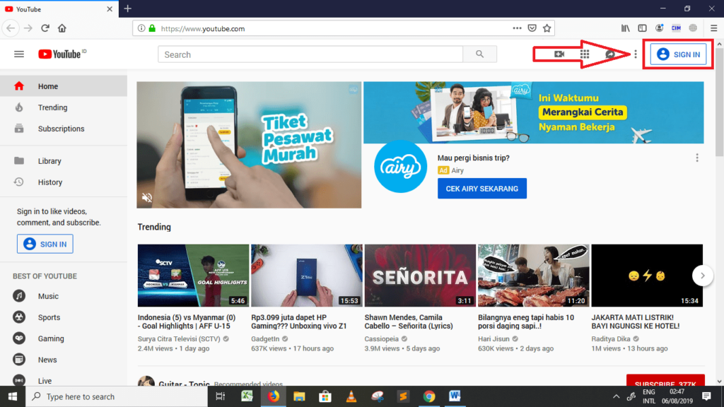 cara membuat channel di youtube